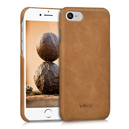 kalibri Apple iPhone 7/8 Hülle - Leder Handy Cover Case - Hardcover Schutzhülle für Apple iPhone 7/8 (Cover Case Handy)