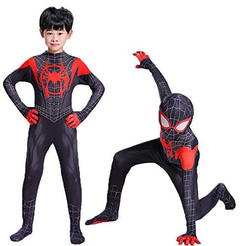 Lydia's Anime Cosplay Kleidung Schwarzes Spiderman Cosplay Kostüm Spider-Man: Into The Spider-Vers 3D-Digitaldruck Enges Weihnachts-Halloween-Kostüm (Spider Tanz Kostüm)