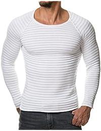 Maglia Maglione Uomo, feiXIANG Uomo autunno inverno casuale V-collo uomo slim maglioni cime camicetta-miscela di cotone