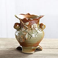 Better Way Vintage Flower Floral Keramik Vase Übertopf Blumentopf Fensterbank  Dekoration Blume Orchidee Container Geschenk