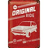 Nostalgic-Art 22212 Volkswagen VW Golf The Original Ride Blechschild, 20 x 30 cm