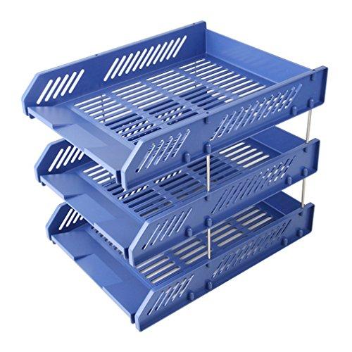 Schreibtisch Organizer 3 Tier Brief Tray Organizer Office Desktop Dokument Papier Datei Speicher Mesh für Haus und Büro (26 * 33,8 * 26 cm) (Farbe : #2) (Schreibtisch-tier Tray)