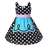 Pettigirl Mädchen Prinzessin Kleider Polka Punkt SchickAnkleiden Halloween Party Dirndl Kleider 4 Jahre
