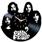 EVEVO Pink Floyd Wanduhr Vinyl Schallplatte Retro-Uhr groß Uhren Style Raum Home Dekorationen Tolles Geschenk Wanduhr Pink Floyd