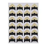 LUOEM Kleber Etiketten selbst klebende Kraft Paper Tape Foto Album Protector Aufkleber Pack of 5 Flash-Gold