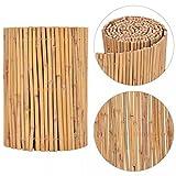 Xingshuoonline Gartenzaun Bambus Sichtschutzmatte Balkon Zaun 500 x 30 cm