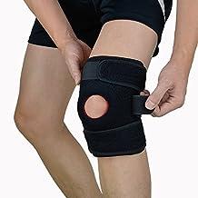Soporte deportivo para rodilla, EveShine soporte de compresión de rodillas Correa Antideslizante de Protección Para el Apoyo y Compresión Necesaria - La pierna izquierda