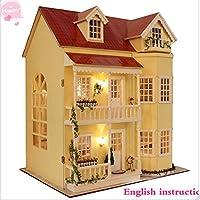 Cure room DIY de Madera casa de muñecas en Miniatura de artesanía Kit-Large Villa