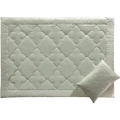 ECO BAMBOO - Luxus Bettdecken- Bambus- Hypoallergen- Kühles Schlafen- Luxuriöse Bettwäsche by White Boutique-155/215 cm