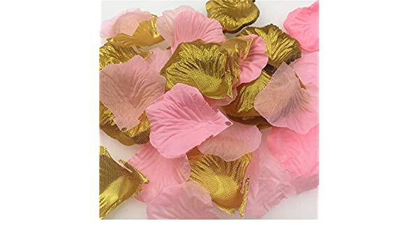 Buy WDS071   Pink Gold Rose Petals Wedding Decoration Artificial Flowers  for Decoration Silk Flowers Decorative Flowers   Wreaths 600pcs Online at  Low ... 5e8852ba930c