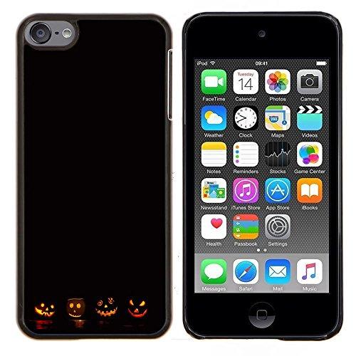 Graphic4You Halloween Allerheiligen Thema Kürbis Design Harte Dünn Hülle Tasche Schale Schutzhülle für Apple iPod Touch 6 (6 Thema Halloween Mp3)