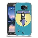 Head Case Designs Rasierer T Alphabet Monster Soft Gel Hülle für Samsung Galaxy S6 Active