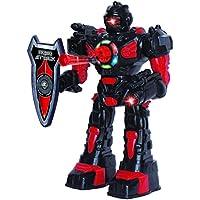 ThinkGizmos Robot teledirigido para niños - Robot Juguete Super Divertido - Baila, Lanza Dardos Suaves, Habla y Anda - RoboAttack