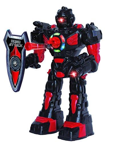 Ferngesteuerter Roboter für Kinder – Hervorragender, unterhaltsamer Spielzeugroboter – tanzt, schießt weiche Pfeile, spricht & läuft – RoboAttack