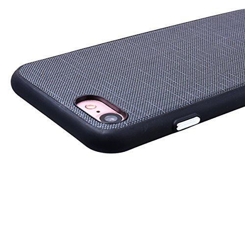 WE LOVE CASE iPhone 7 Coque, Étui de Protection en Premium Silicone Housse Souple et Mince, Ultra Slim Bumper Gel Cas Couverture Paillette Coque Pour Apple iPhone 7 - Blanc noir
