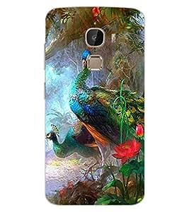 ColourCraft Beautiful Peacock Design Back Case Cover for LeEco Le 2