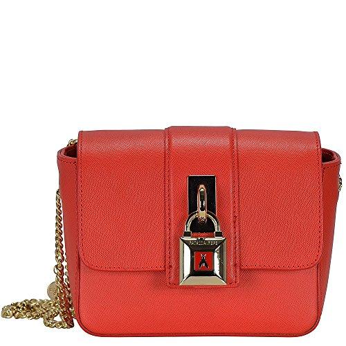 Patrizia Pepe Lock Fly Mini Bag borsa a tracolla pelle 17 cm Bright Red