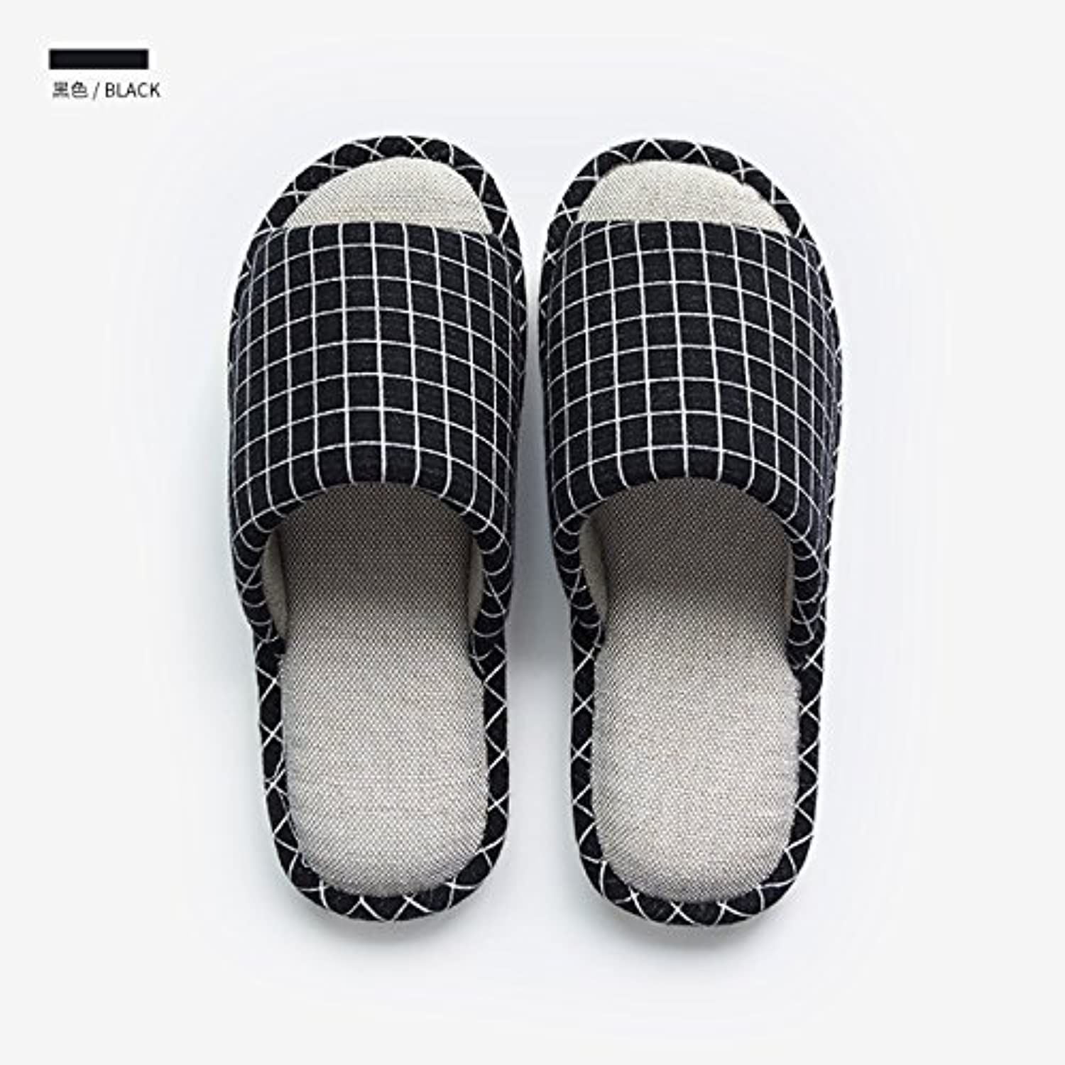 fankou Slippers Women Indoor Summer Home Anti-Slip Cotton Linen Slippers Male Couples Home Floor Slippers [2],...