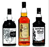 Spiced Rum Sailor Jerry, Black Spiced, Kraken je 1,0 L