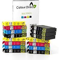 15 XL Haute Capacité ColourDirect Compatible Cartouche D'encres Pour Epson WorkForce WF-2520NF,WF-2530WF,WF-2010W,WF-2510WF,WF-2540WF,WF-2630WF,WF-2650DWF,WF-2660DWF imprimeur 16XL - 6 Noir 3 Cyan 3 Magenta 3 Jaune