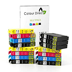15 XL High Capacity Colour Direct Compatible Ink Cartridges Replacement For Epson WorkForce WF2010W WF2510WF WF2520NF WF2530WF WF2540WF WF-2630WF WF-2650DWF WF-2660DWF WF-2750DWF Printers