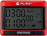 Pure 2Improve Unisex– Erwachsene Interval Training Timer, Schwarz/Rot, 1