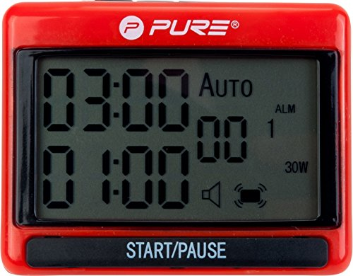 Pure2Improve Pure Interval Training Timer, Schawrz/Rot, 1