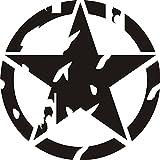 1x 2Plott-Sticker, Modell ''Stern US-Army''