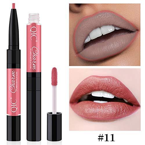 ng Lasting Waterproof Silky Matte Lip Liner Gloss Lipstick-11# ()