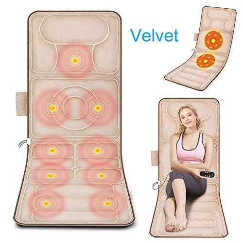 Shiatsu Massageauflage Elektrisch Mit Rollmassage Vibration Und Wärmefunktion Massagestühle Sitzauflagen Für Absolute Entspannung, Samt/Leder Optional