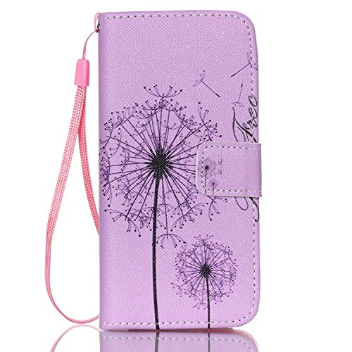 Custodia per iPhone 6 Plus Rosa,TOCASO Farfalla Dandelion Flip Case PU Pelle [Wallet Book Design] per iPhone 6s Plus 5.5 Portafoglio Cover Ultra Sottile Leather Protettivo Cases Covers Shell [Lanyard/ Stylish#24