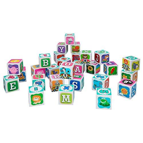 PlayGo-Bildung Spielzeug: Blöcke ABC, Tiere, Zahlen und Farben (Baby 44569)