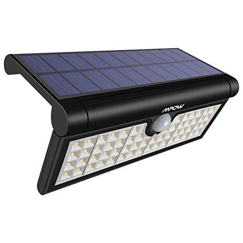 Mpow 58 LED Solar Leuchte faltbarer Bewegungssensor Solarleuchte Solarlicht, Außenbeleuchtung,Wandleuchte, 120 ° Betrachtungswinkel, wetterfest Licht für Camping, Garten, Fahrstraße, Hof, Garage