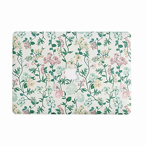 AQYLQ MacBook Pro 13 Hülle 2018/2017/2016 für Modell A1706/A1708/A1989 mit/ohne Touch Bar and Touch ID, Ultradünne Matt Plastik Gummierte Hartschale Tasche Schutzhülle, CY7.7-3 stieg Blume (Macbook In 13 Pro Pink Fall)