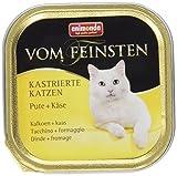 Animonda Vom Feinsten kastrierte Katzen Nassfutter, für ausgewachsene Katzen, mit Pute und Käse, 32 x 100g