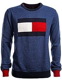 16ffc746fa56 Tommy Hilfiger Herren Signature Flag Pullover, Men s Sweater, Größe XL