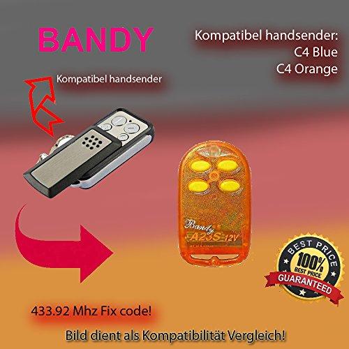 X2 Handsender 433.92 MHz für BANDY C4 Blue, C4 Orange Antriebe -