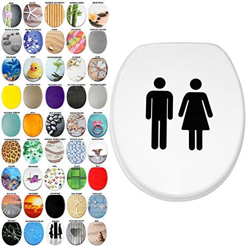 WC Sitz, viele schöne WC Sitze zur Auswahl, hochwertige und stabile Qualität aus Holz (Unisex)
