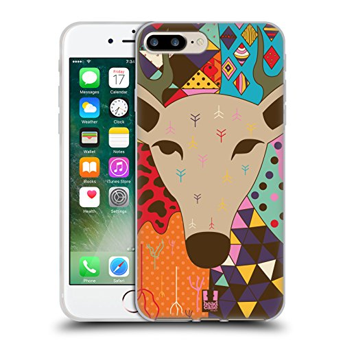 Head Case Designs Cane Animali Astratti Cover Morbida In Gel Per Apple iPhone 7 / iPhone 8 Renna