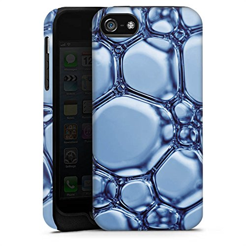 Apple iPhone 4 Housse Étui Silicone Coque Protection Eau Water Bulles Cas Tough terne