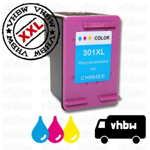 vhbw kompatible Ersatz Tintenpatrone Druckerpatrone bunt für Drucker HP Deskjet 1050A, 1050A J410g All-In-One