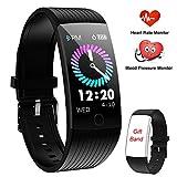 WENVVIS Montre Connectée, Bracelet Connecté Cardiofréquencemètre Femmes Homme, Tracker d'Activité Écran Coloré Cardio Etanche IP67 Sports Smart Watch, Podomètre Smartwatch Poignet Marche...