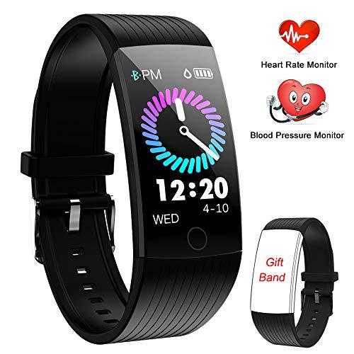 WENVVIS Fitness Armband Fitness Tracker Uhr Pulsmesser Wasserdicht Smartwatch