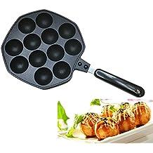 Takoyaki Pan, KOLARK Bandeja para hornear de aleación de aluminio fundido Nonstick Takoyaki Maker,