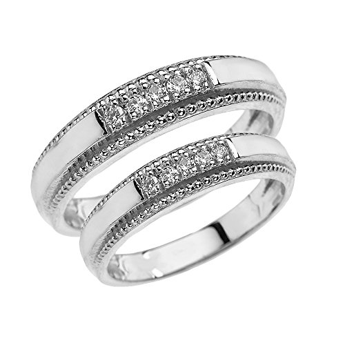 10-ct-white-gold-his-and-hers-matching-diamond-wedding-band-rings