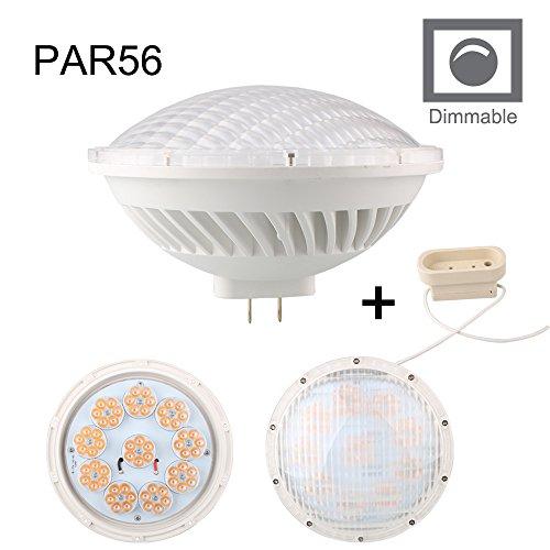 BAOMING dimmbar PAR56 LED Leuchtmittel 26W 24 Grad Abstrahlwinkel AC 200 ~ 240 V mit GX16D Mogul Ende Zinken Boden für Halogen 300 W replacement-warm weiß 2700 K ~ 3000 K