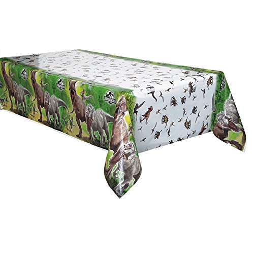 SIC WORLD * für Kindergeburtstag oder Motto-Party // Party Plastic Table Cover Motto Dinosaurier Dinos T-Rex Universal (Dinosaurier Aus Jurassic World)