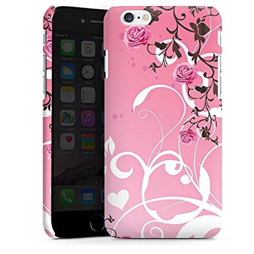 Apple iPhone X Silikon Hülle Case Schutzhülle Rosen Muster Pink Premium Case matt