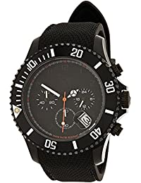 Ice-Watch - ICE Chrono matte Black - Schwarze Herrenuhr mit Silikonarmband - 013713 (Large)