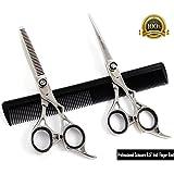 """Blue Avocado Scissors - Hair Scissors - Professional Hairdressing Scissors,Hair cutting scissors,Japanese Steel Sharp edge Scissors 6.5"""" + Case & Accessories"""